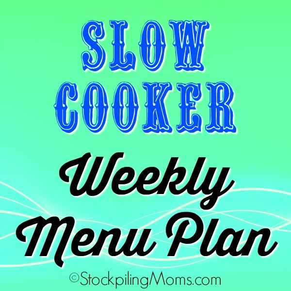 Slow Cooker Weekly Menu Plan