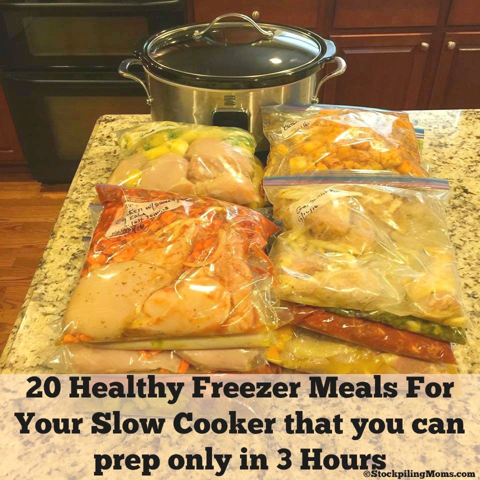 healthy freezer meals 20 healthy freezer meals for your cooker in 3 hours 30839