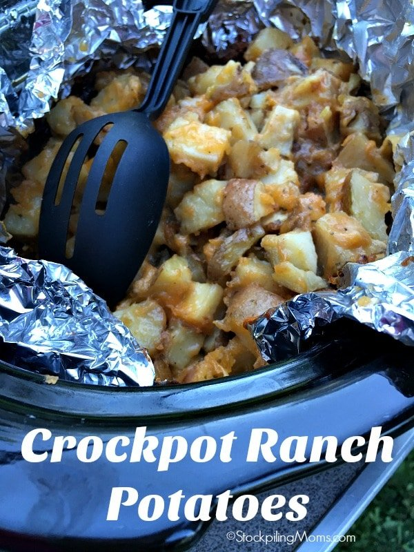 Crockpot Ranch Potatoes recipe is the perfect slow cooker side dish!