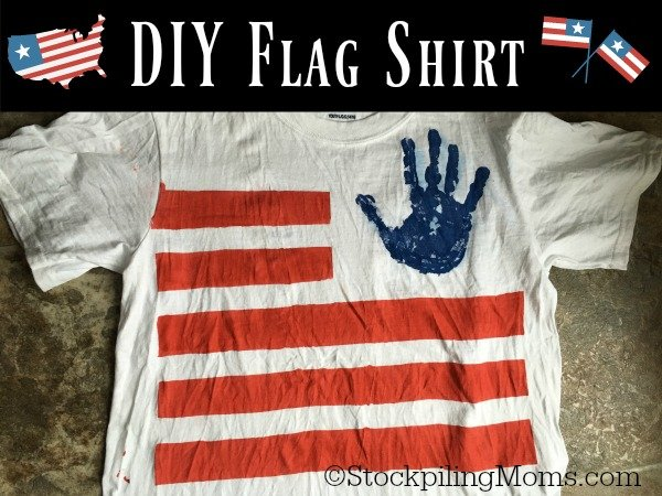 This easy DIY Flag Shirt is so much fun to do with kids this summer!