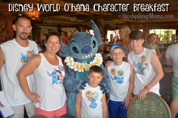 Disney World O'hana Character Breakfast is the best!