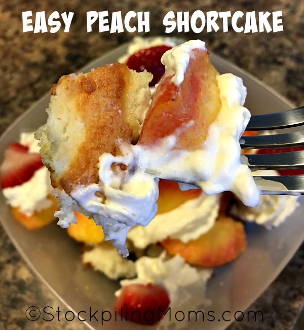 Easy Peach Shortcake