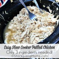 Easy Slow Cooker Pulled Chicken