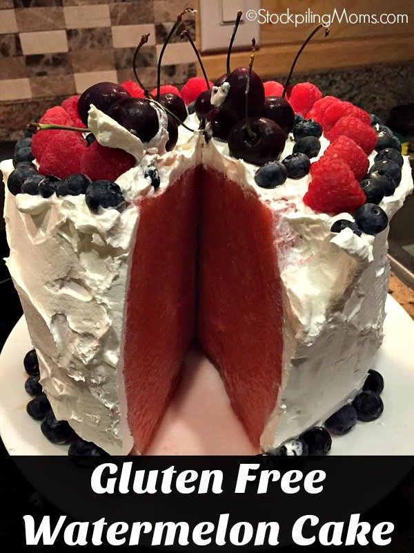 Paleo, Gluten Free Watermelon Cake that is healthy, refreshing and tastes delicious!