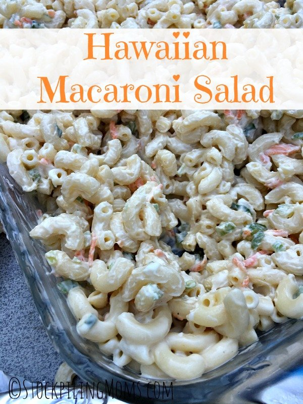 Hawaiian Macaroni Salad tastes deliciously sweet! Perfect for BBQ's and potlucks this summer.
