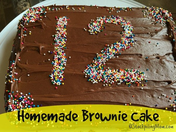 Homemade Brownie Cake Recipe Tastes Delicious And So Easy To Make Perfect For Birthdays Or