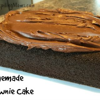 Homemade Brownie Cake