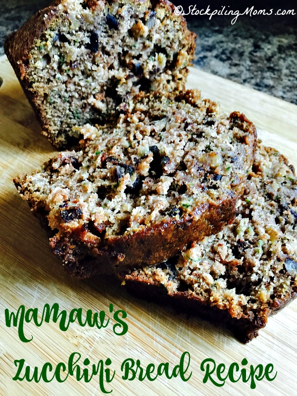 Mamaw's Zucchini Bread Recipe tastes delicious and is perfect for breakfast or afternoon tea!