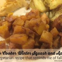 Slow Cooker Winter Squash and Apples