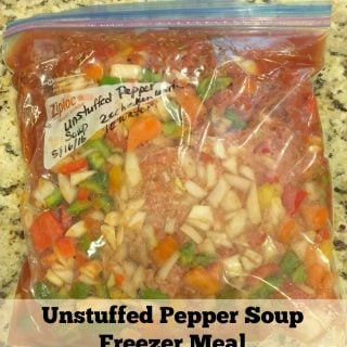 Unstuffed Pepper Soup Freezer Meal