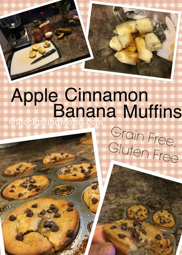 Apple Cinnamon Blender Muffins are grain free, dairy free and gluten free! Perfect breakfast recipe for back to school!