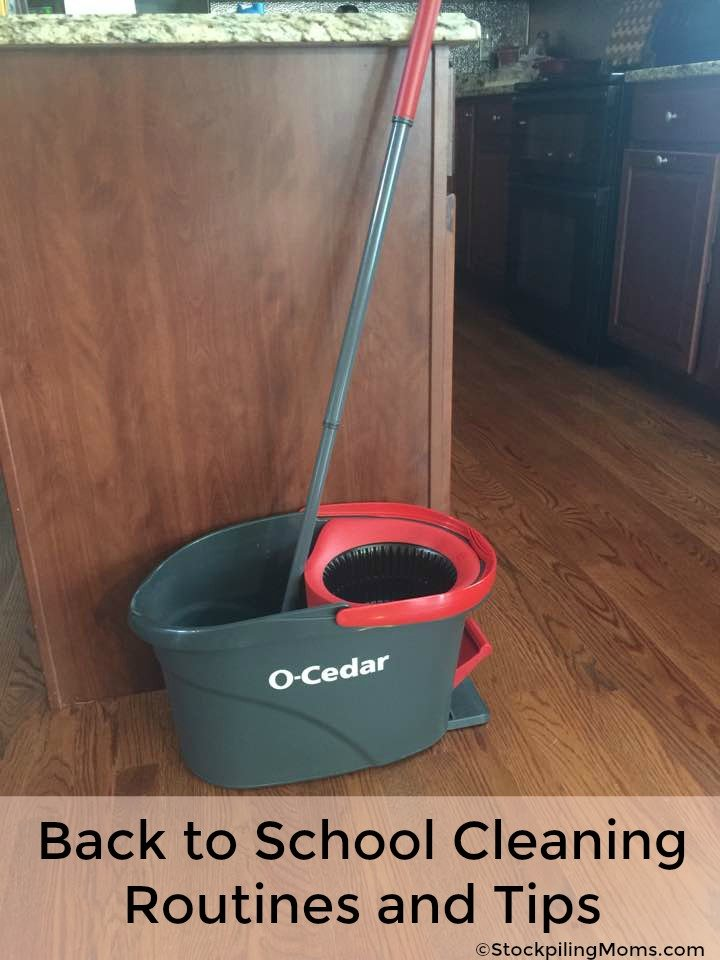 Back to School Cleaning Routines and Tips Made Easy