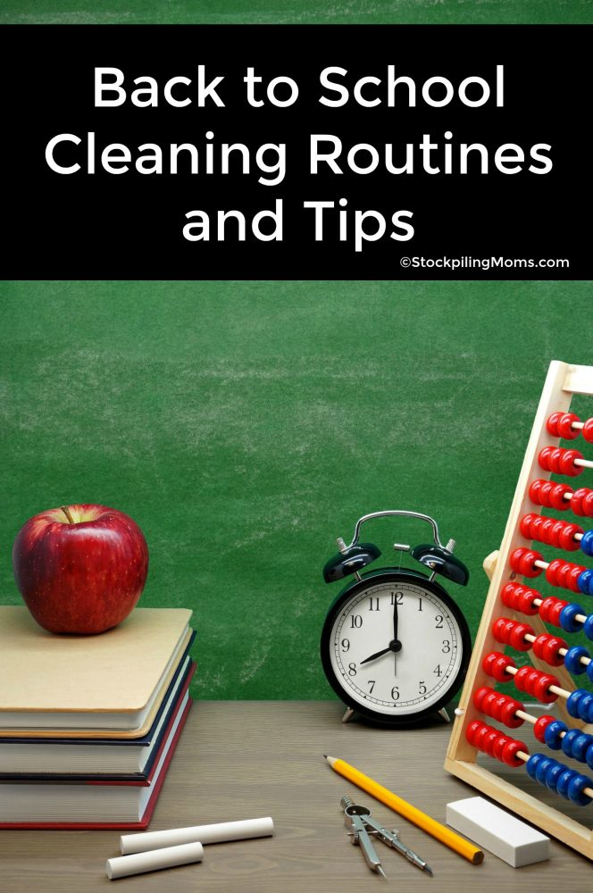 Back to School Cleaning Routines and Tips