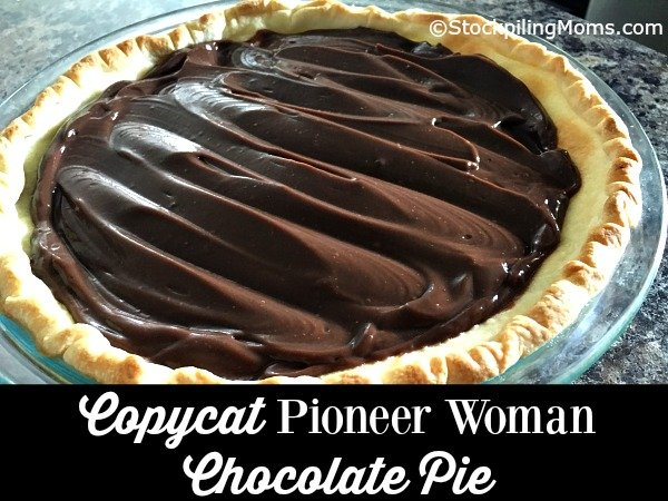 This Copycat version of the Pioneer Woman Chocolate Pie is simply delicious!
