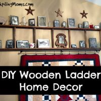 DIY Wooden Ladder Home Decor