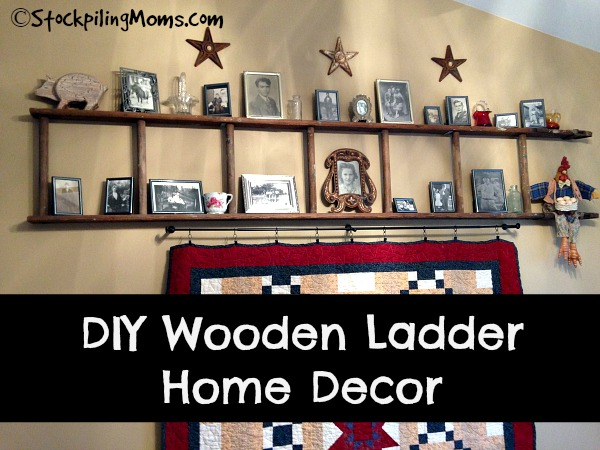 DIY Wooden Ladder Home Decor is so easy to make and makes a great statement in your home!