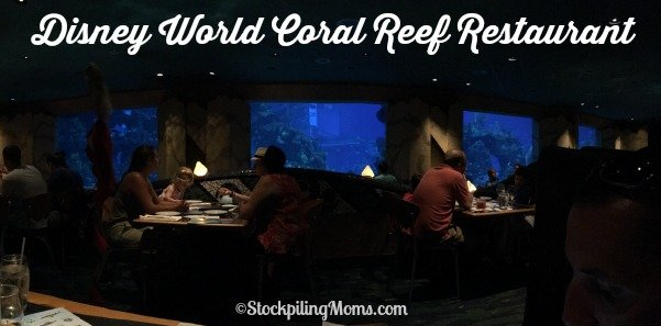 Disney World Coral Reef Restaurant dining experience in Epcot!