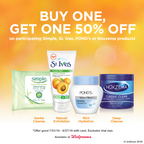 Buy One Get One 50% off at Walgreens!