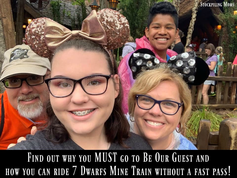 Find out why you MUST go to Be Our Guest and how you can ride 7 Dwarfs Mine Train without a fast pass!