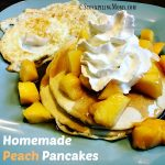 Homemade Peach Pancakes