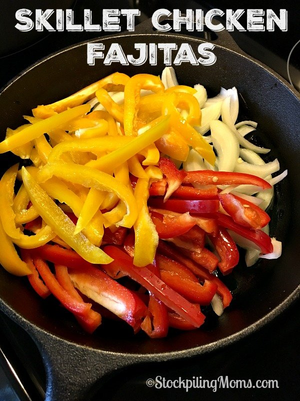 Skillet Chicken Fajitas is an easy dinner that is ready in less than 30 minutes!