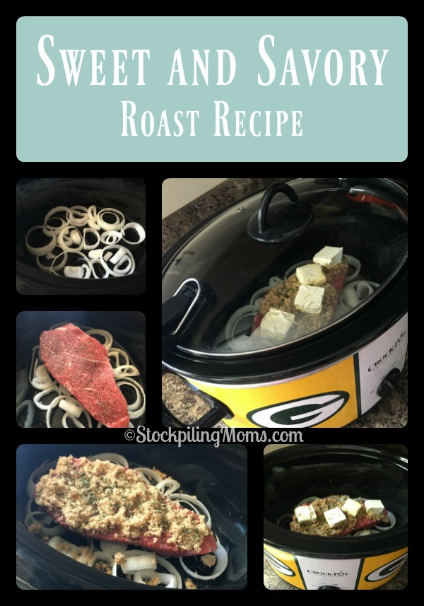 Sweet and Savory Roast Recipe is perfect to make in your crockpot for a Sunday dinner!