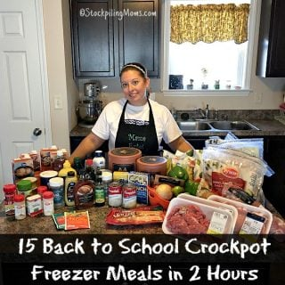 15 Back to School Crockpot Freezer Meals in 2 Hours