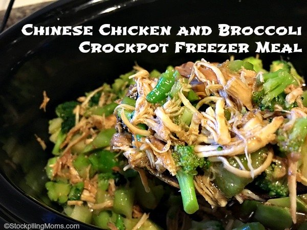 Chinese Chicken and Broccoli Crockpot Freezer Meal is so good, tastes better than take out!