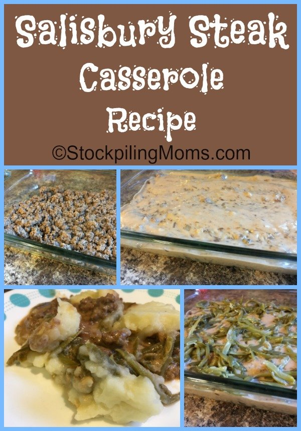 Salisbury Steak Casserole Recipe is a great oven ready freezer meal for the family!