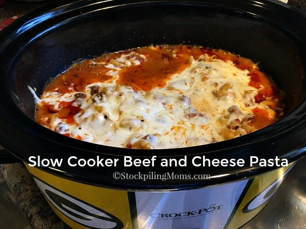 Slow Cooker Beef and Cheese Pasta is a hearty dish that my family loves!