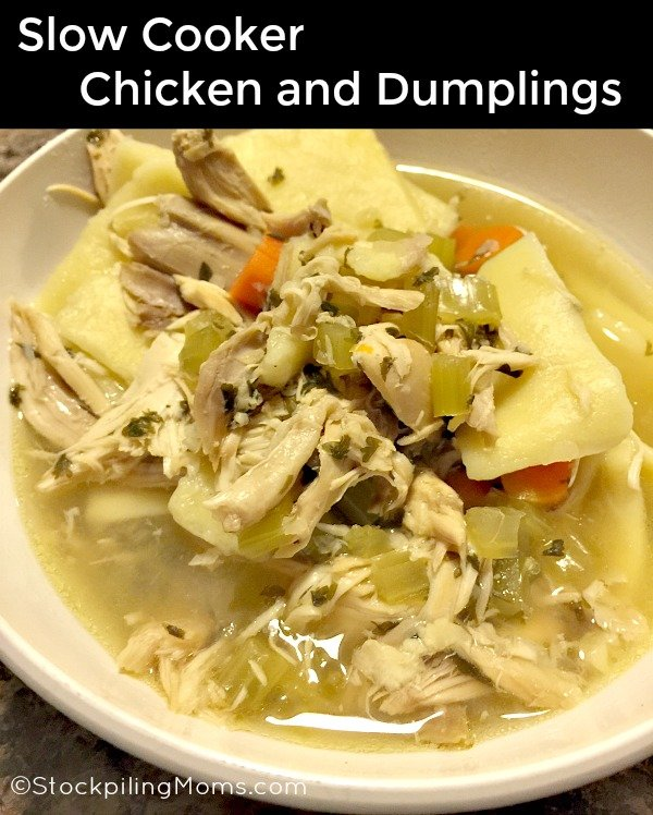 Slow Cooker Chicken and Dumplings is the perfect freezer meal for winter!