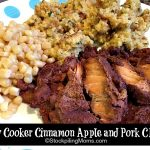 Slow Cooker Cinnamon Apple and Pork Chops
