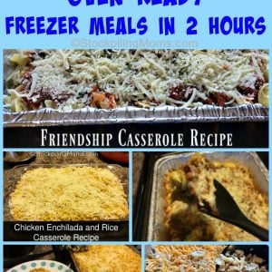 10 Oven Ready Freezer Meals in 2 Hours
