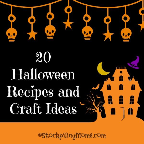20 Halloween Recipes and Craft Ideas to help you this Trick or Treat season!