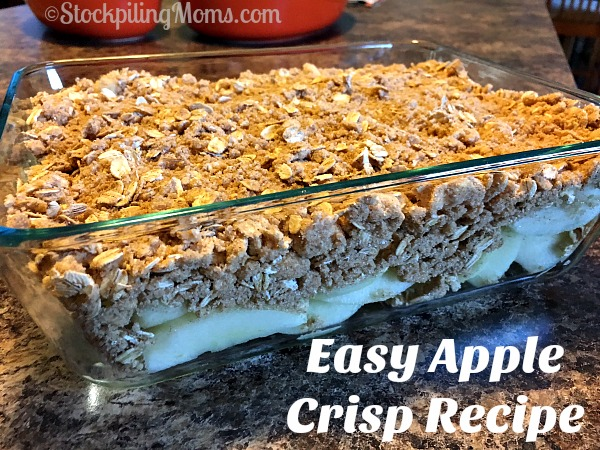 Need a quick and tasty dessert than be sure to try Easy Apple Crisp Recipe!