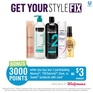Save on TRESemmé, Dove, Nexxus or Suave Hair this month at Walgreens