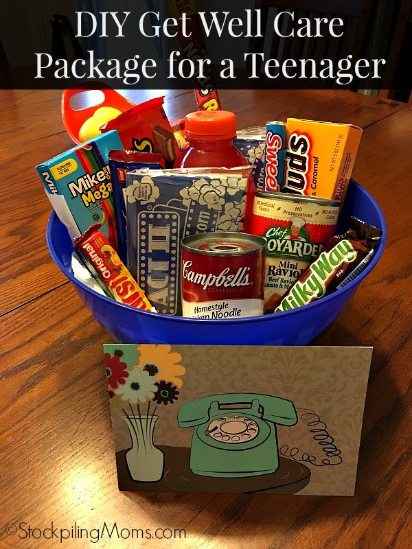 DIY Idea for a Get Well Care Package for a Teenager