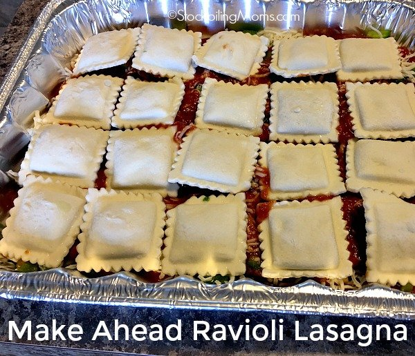 Make Ahead Ravioli Lasagna