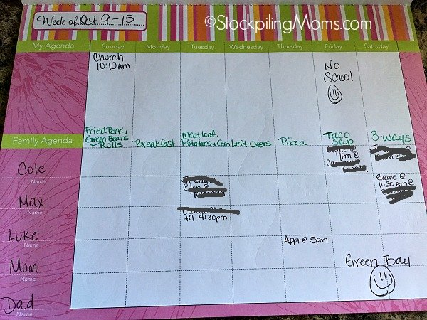 Organizing and Planning Tips for a Weekly Menu Plan to make it easy and simple for your family!