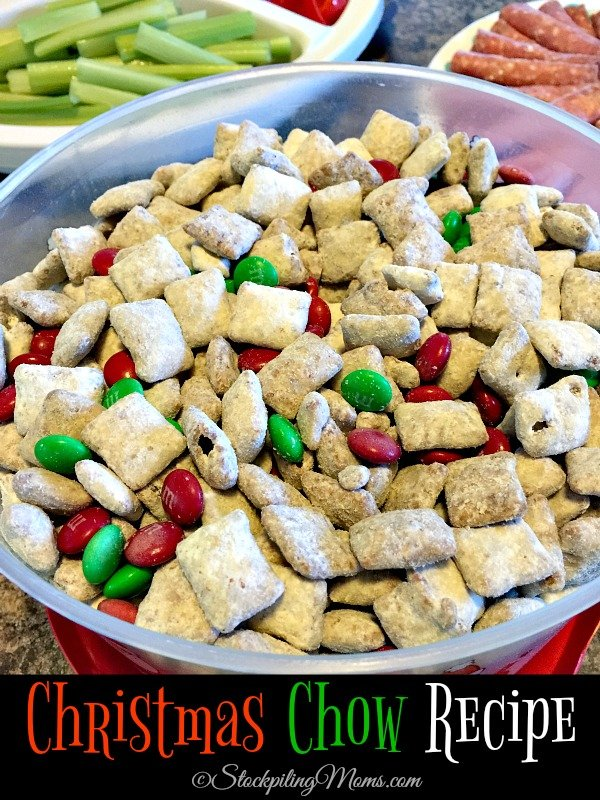 This super easy Christmas Chow Recipe is sure to be a party favorite this holiday season!