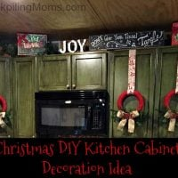 Christmas DIY Kitchen Cabinet Decoration Idea