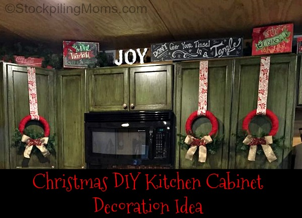 christmas diy kitchen cabinet decoration idea budget decorating archives a cultivated nest