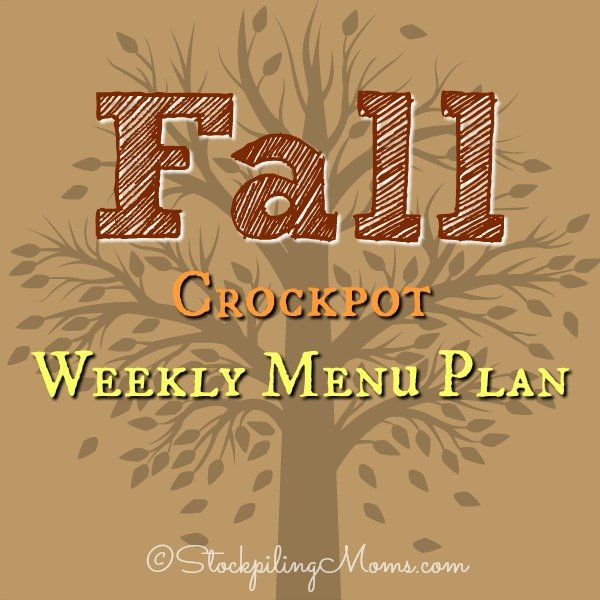 Fall Crockpot Weekly Menu Plan to save you time and money on your family's dinner this week!