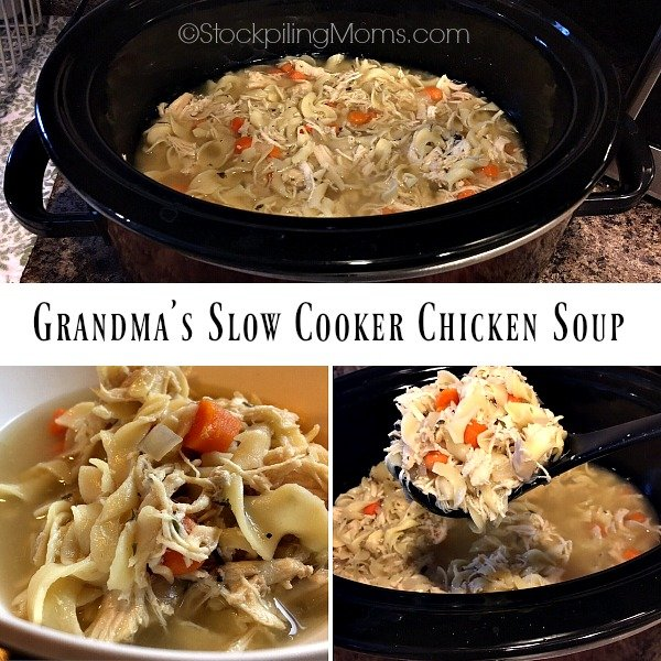 Grandma's Slow Cooker Chicken Soup recipe is perfect on a cold night!
