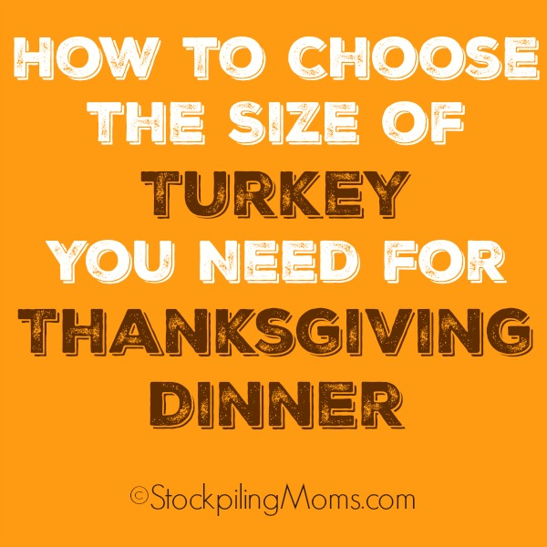 How to Choose the Size of Turkey You Need for Thanksgiving Dinner this year!