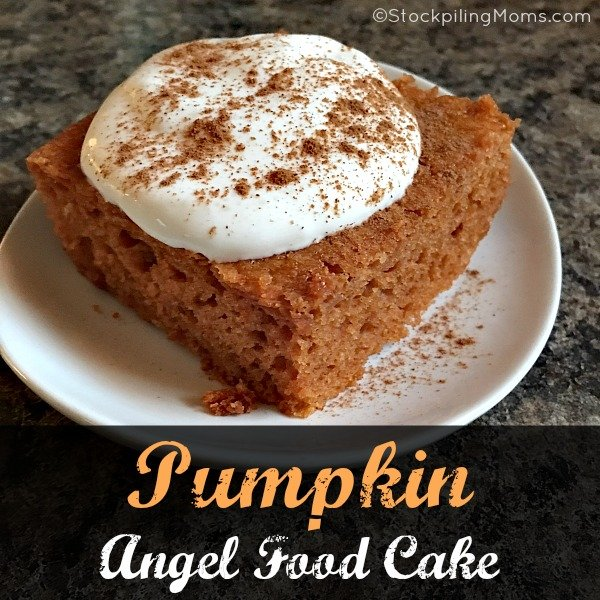 Pumpkin angel food cake this easy dessert recipe for pumpkin angel food cake is so yummy with only 3 ingredients forumfinder Image collections