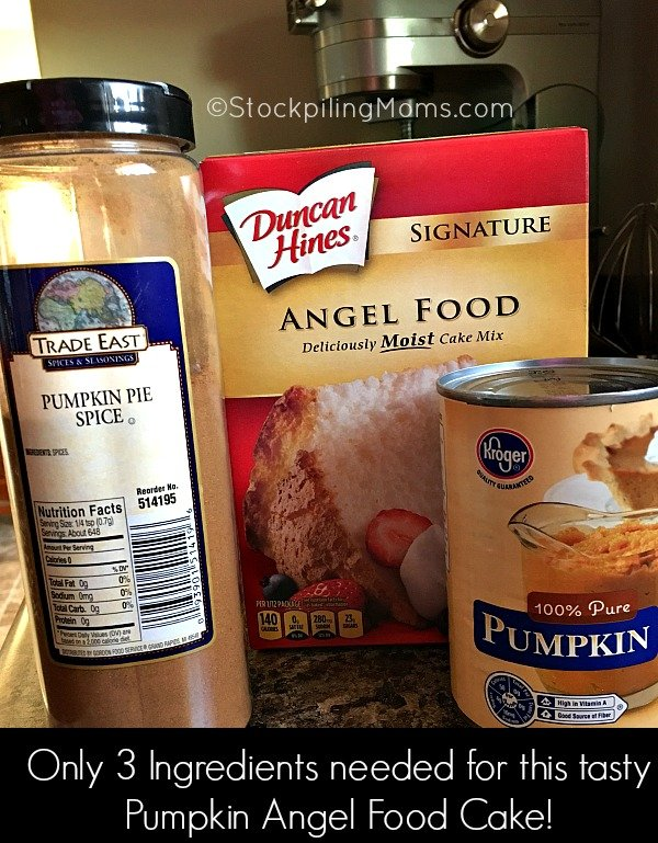 This easy dessert recipe for Pumpkin Angel Food Cake is so yummy with only 3 ingredients!