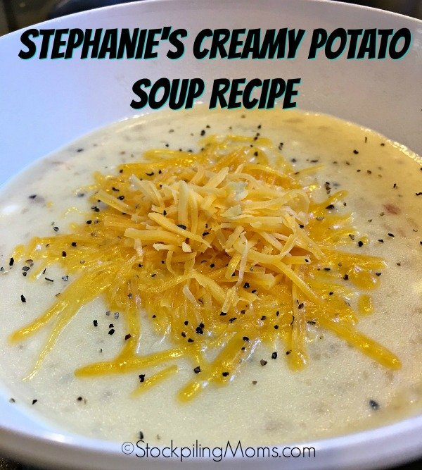 Stephanie's Creamy Potato Soup Recipe is the best slow cooker dinner meal!
