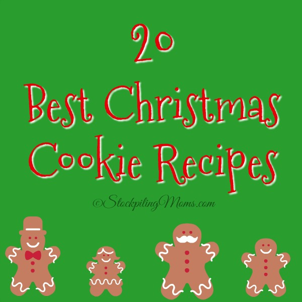 20 Best Christmas Cookie Recipes for this holiday baking season!