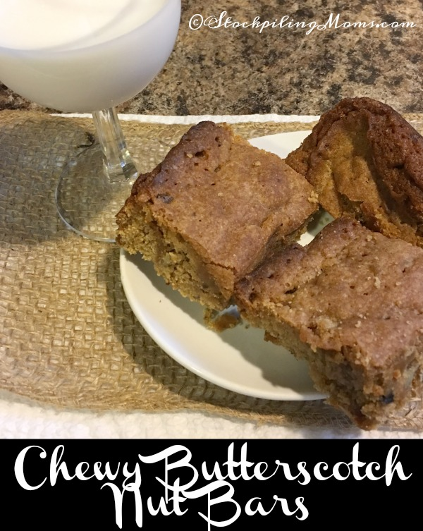Chewy Butterscotch Nut Bars recipe is the perfect treat for the holiday season!